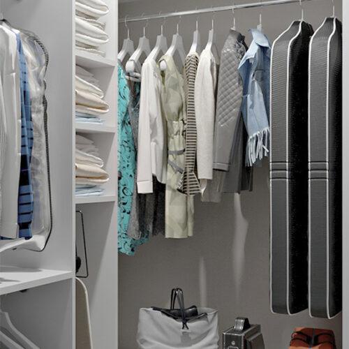Дизайн-проект інтер'єру квартири по пр. Науки, гардероб з видом під кутом