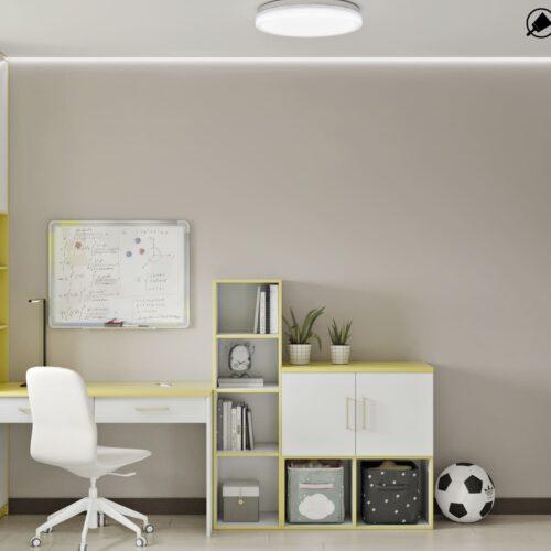 Дизайн-проект интерьера квартиры по пр. Науки, детская с видом на учебную зону