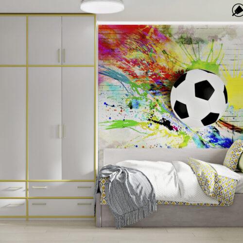 Дизайн-проект интерьера квартиры по пр. Науки, детская с видом на шкаф
