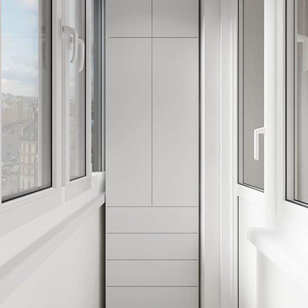 Дизайн-проект интерьера квартиры по улице Полтавский Шлях, балкон с видом на правую сторону