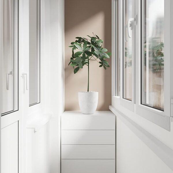 Дизайн-проект интерьера квартиры по улице Полтавский Шлях, балкон с видом на левую сторону