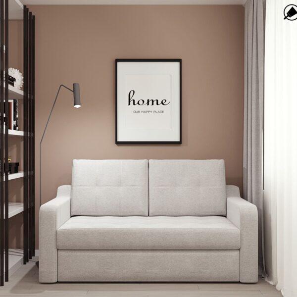 Дизайн-проект интерьера квартиры по улице Полтавский Шлях, прихожая с видом на диван и картину