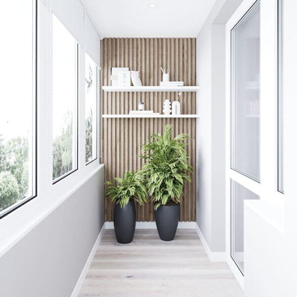 """Дизайн-проект інтер'єру трикімнатної квартири ЖК """"Пролісок"""", балкон вид праворуч"""