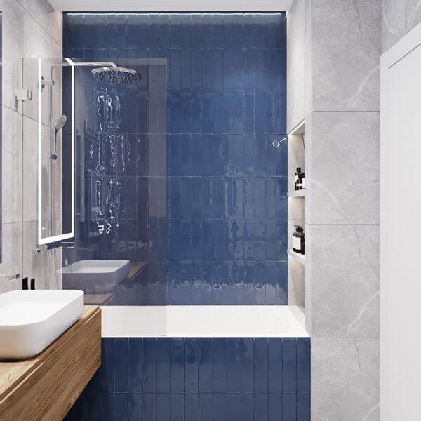 """Дизайн-проект інтер'єру трикімнатної квартири ЖК """"Пролісок"""", санвузол вид на сантехніку"""