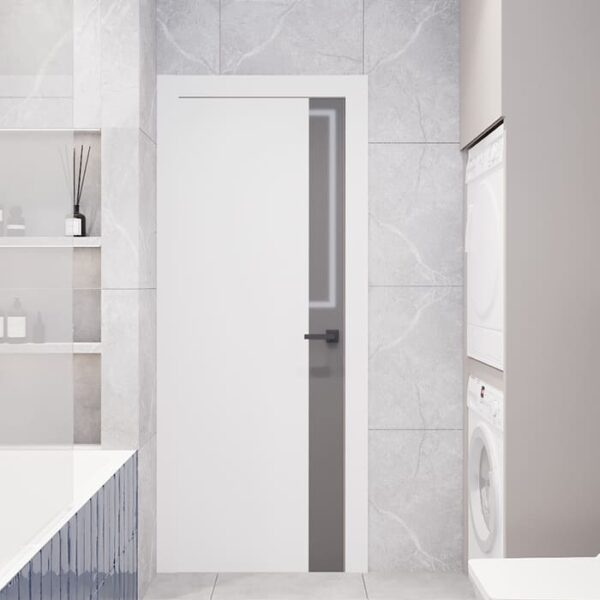 """Дизайн-проект інтер'єру трикімнатної квартири ЖК """"Пролісок"""", санвузол вид на вхід"""